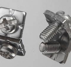 不锈钢盘头十一字四方垫二组合螺丝